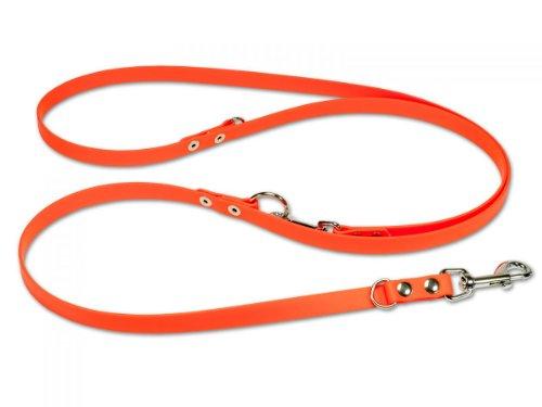 Mystique Biothane verstellbare Hundeleine orange Größe: 13 mm x 300 cm