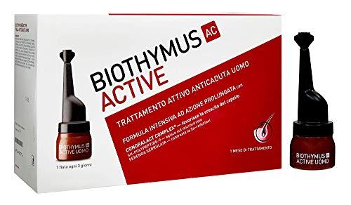 Biothymus Ac Active Trattamento Attivo Anticaduta Capelli per Uomo, Formula Intensiva ad Azione Prolungata, 10 Fiale