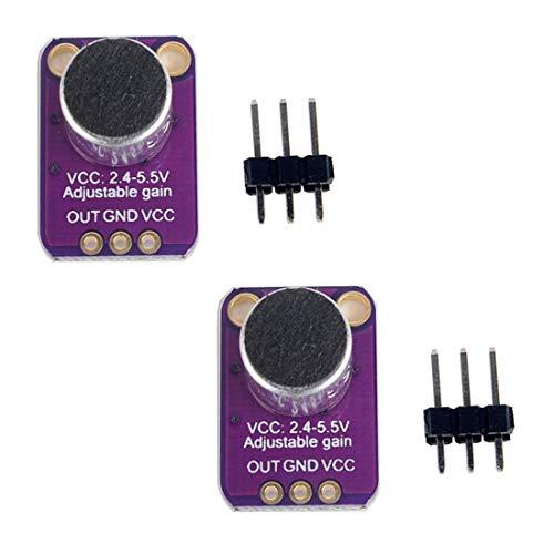 Buy Discount HiLetgo 2pcs Electret Microphone Amplifier MAX4466 Module Adjustable Gain Blue Breakout Board for Arduino