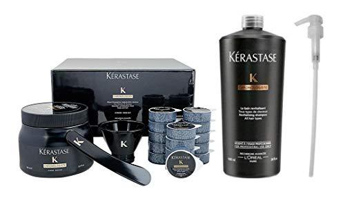 Kerastase Chronologiste Coffret Set Tecnico Masque Creme de Regeneration 500ml + 15 Monodosis Perlas de Caviar de 8ml cada + Shampoo Bain Revitalisant 1000ml + 1 Dosificador Pump
