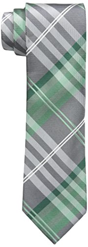 Geoffrey Beene Men's Petros Plaid II Tie, Green, Regular