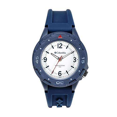 Columbia Men's Polycarbonate Japanese Quartz Sport Watch with Silicone Strap, Blue, 6 (Model: CSS13-003)