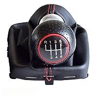 ZIMAwd 車のスタイリング56スピードギアシフトノブハンドボールレザー、アウディA3S3に適合20012002 2003