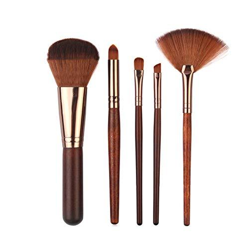 Premium Quality Make Up Brushes, 5Pcs Poudre à Paupières Sourcils Ombre à Paupières Incliné Fan Forme Maquillage Cosmétique Outil Brosses Ensemble - C