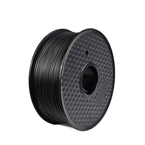 NO LOGO WSF-3D Prints, 1pc Impression 3D Filament FDM Matériel PP polypropylène 1.75mm Haute température à Haute résistance Fil 1 kg (Couleur : Black 1kg)