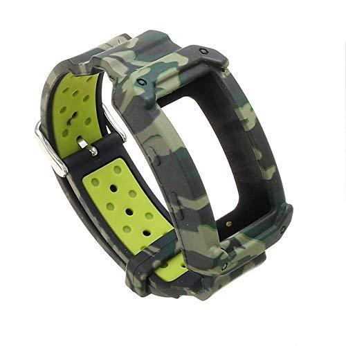 De Galen Ersatz-Armband für Samsung Gear Fit 2 SM-R360 / Fit2 Pro R365 (Farbe: Camouflage-Grün)