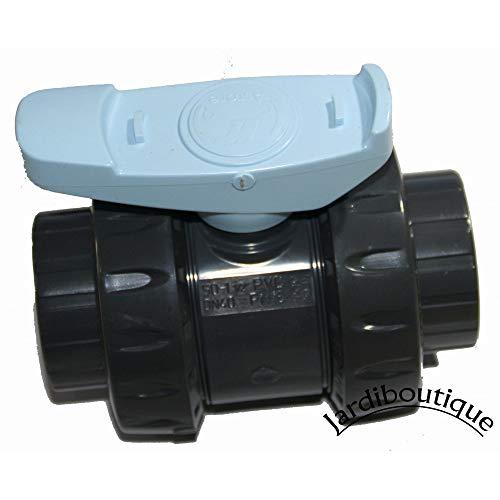 ASTORE - ast63 - Vanne PVC Double Union à Coller 63mm pn16