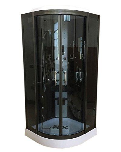 DUCHA CABINA DE HIDROMASAJE Modelo Vancouver 100 x 100 cm NUEVA SPA RADIO CROMOTERAPIA