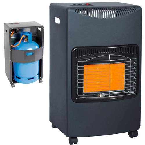 BARGAINSGALORE 4.2KW CALOR GAS PORTABLE CABINET HEATER FIRE BUTANE WITH REGULATOR & HOSE NEW