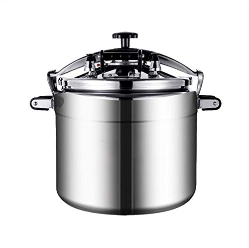 Kyman Aluminum Alloy Commercial Pressure Cooker, Large-capacity Explosion-proof Pressure Cooker, Household Gas Stove And Hotel Special Pressure Cooker, 18L-50L (Color : Silver, Size : 18L)