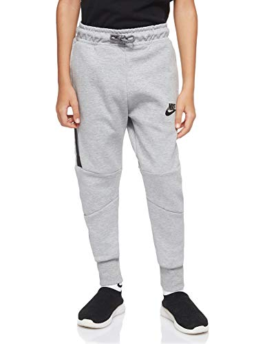 Nike Jungen Sportswear Tech Fleece Hose, Grau (Dark Grey Heather/Black/Black 064), Medium