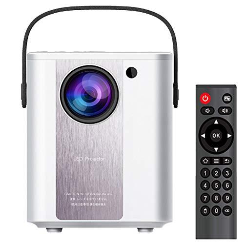 0℃ Outdoor Proyector, Proyector Portátil, Soporta 1080p Full HD, Corrección Trapezoidal y Zoom de Imagen, Compatible con PS5/PS4/PC/XBOX, Gran Regalo Ideal, Pequeño y Ligero,Blanco