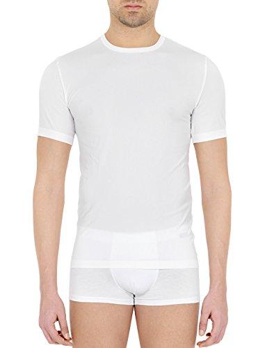 Pompea - Camiseta interior para hombre, de microfibra, juego de 3 unidades blanco S-M