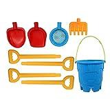 Kisangel 1 Juego de para La Playa para Niños Juego de Juguetes para La Playa Pala Rastrillo Arenero Juguetes para Niños Pequeños Juguetes Aire Libre