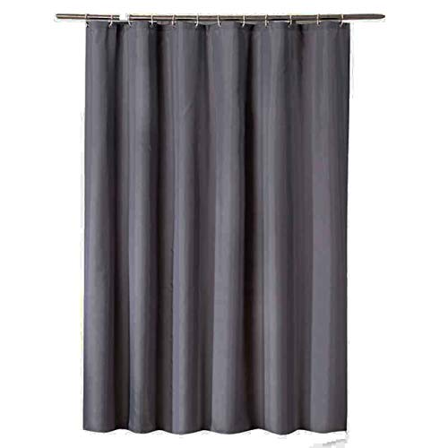 Bishilin Duschvorhang Anti-Schimmel Grau Vintage Duschvorhang 80x180 cm