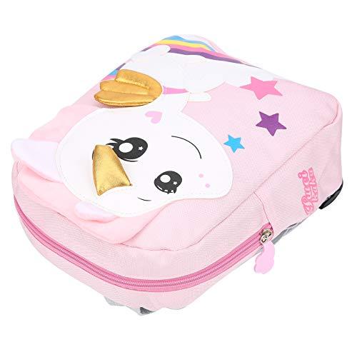 Mochila con animales, resistente al agua Bolsa para niños pequeños con estrés uniforme, para cochecitos de bebé Bolsos de noche para bebés de menos de cinco años Mochilas escolares para(Pink)