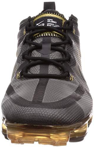 Nike Air Vapormax 2019, Zapatillas de Atletismo Hombre, Multicolor (Black/Black/Metallic Gold 002), 42.5 EU
