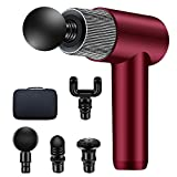 Massage Gun, Moolan Muscle Handheld Electric Muscle Massager Cordless Vibration Deep Muscle Percussion Massagers for Pain Relief Athletes Gym Office Home