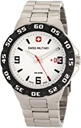 Swiss Military Calibre Men's 06-5R1-04-001 Racer White Dial Steel Bracelet Watch