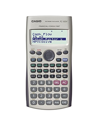 CASIO FC-100V Calculadora Financiera, 13.7 x 80 x 161 mm, color gris