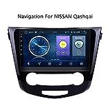 para Nissan Qashqai X-Trail 2013-2016 Sistema de navegación GPS Navigator satélite Reproductor de DVD Rastreador Bluetooth estéreo de Radio Auto WiFi Pantalla táctil de la cámara Trasera