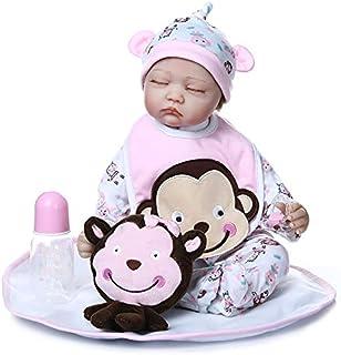 Lifelike Reborn Baby Dolls 22 inch Eyes Closed Sweet Face Newborn Realistic Sleeping Doll Baby Soft Silicone and Cloth Bod...