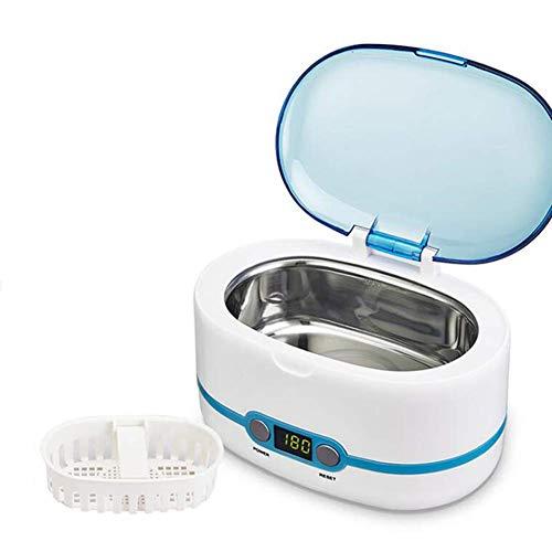 CHTT Lavadora ultrasónica, Limpiador de Sonido de 750 ml, LCD de Alta frecuencia de Limpieza temporizada para Gafas Reloj de joyería
