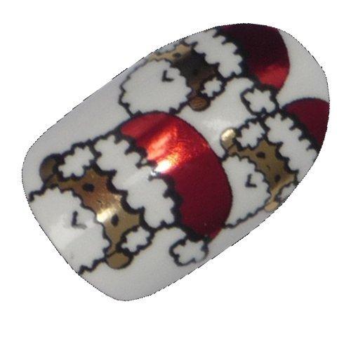 Hennen nagels incidenteel Minx chique stijl design vinger tenen vinyl folie nail wraps, Kerstmis Santa Print