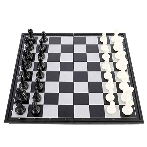 Bathroom Mirror Chess Set Folding Large Magnetic Chess Board Set International Chess Entertainment Game for Kids & Adults
