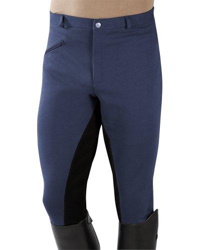 PFIFF - Pantalones de equitación con culera para Hombre Azul Multicolor Talla:54