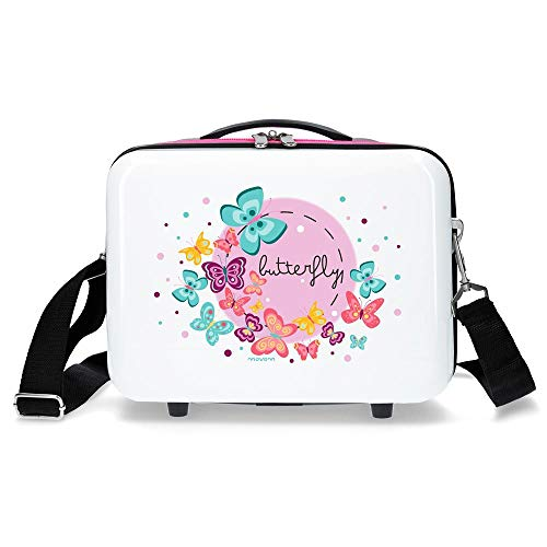 MOVOM Happy Time Neceser Adaptable Multicolor 29x21x15 cms Rígida ABS 9,14L 0,84 kgs