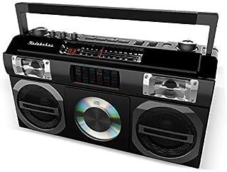 Studebaker SB2149B Master Blaster Bluetooth Boombox with 3 Way Power, AM/FM Radio, USB Port, CD Player with MP3 Playback, ...