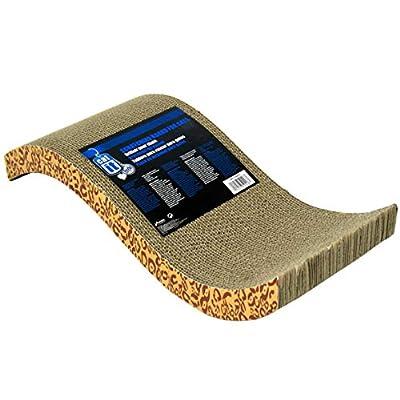 Catit - Cat Scratcher - Cardboard Pad with Catnip - Animal Print
