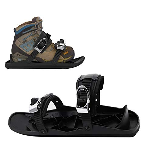 OLDSAN The Upgraded Version Mini Snow Board Ski Boots Portable Skates Shoes for Snow The Short Skiboard Snowblades Adjustable Skiing Sled for Men Women Universal Sports Ski Shoes