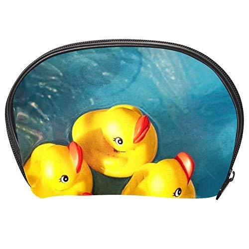 Bennigiry Patos de goma para piscina infantil, bolsa de maquillaje, organizador para mujeres, kit de viaje con cremallera, multifunción, bolsa de almacenamiento
