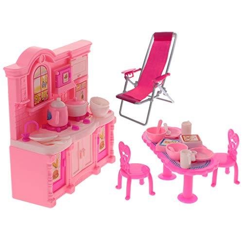sharprepublic 1/6 Rosa in Miniatura Mobili da Cucina Modello Bambini Giocano Casa Giocattolo Regalo di Compleanno