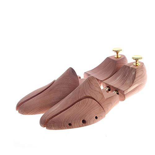 LIANYG Horma para Ensanchar Zapatos Tubo Gemelo Rojo Cedro de Madera Zapato Ajustable Shaper Shoe Shoe Tree Hormas para Zapatos (Color : 43 44)