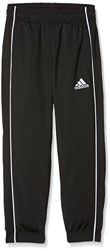 adidas Kinder Core 18 Trainingshose, Black/White, 116 (XS)