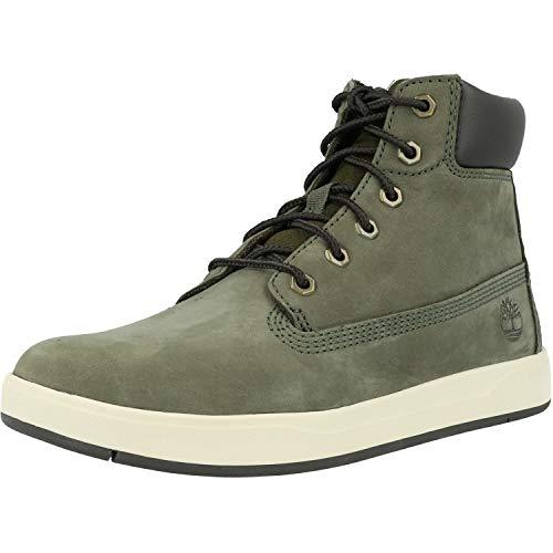 Timberland Unisex-Kinder Davis Square 6 Inch Klassische Stiefel, Grün (Dark Green Nubuck), 25 EU