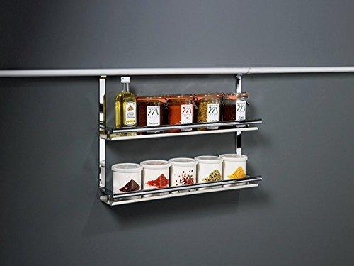 SO-TECH® Linero 2000 Gewürzboard 2-etagig für Küchenreling