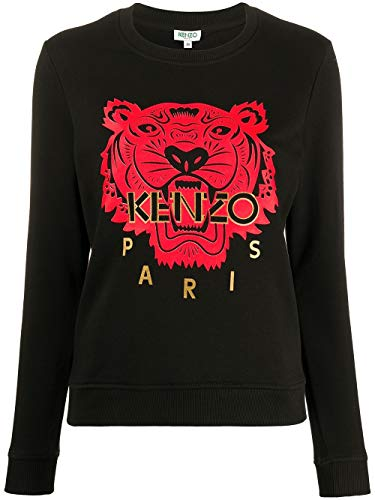 Kenzo Luxury Fashion Damen FA52SW7054Z599 Schwarz Baumwolle Sweatshirt | Frühling Sommer 20