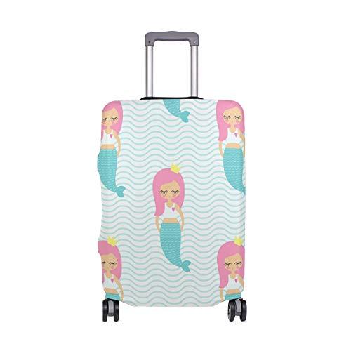 Orediy - Maleta de Viaje elástica con diseño de Sirena y Princesa (sin Maleta), Talla S, M, L, XL, Multicolor (Multicolor) - suitcasecover