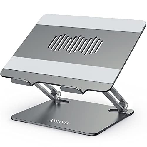 AWAVO Soporte Portátil, Elevador Ajustable para Computadora Portátil con Ventilación de Calor, Compatible con MacBook Air/Pro, DELL, HP, Lenovo, más computadoras portátiles de 10-15.6'