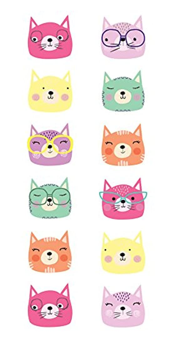 Paper House Productions 2-Inch Stickers, Cat Faces, 6-Pack luih857693919307