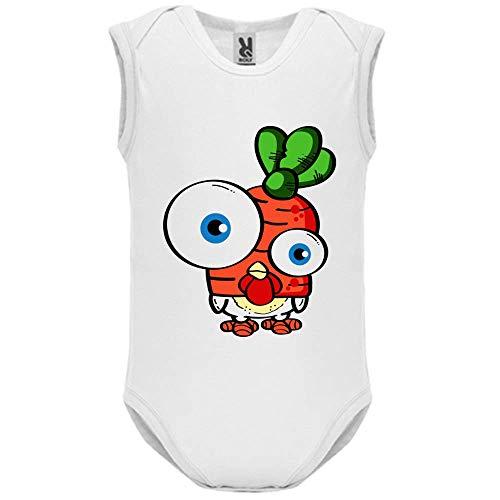 LookMyKase Body bébé - Manche sans - Big Eyes - Bébé Garçon - Blanc - 3MOIS
