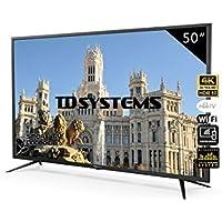 Television Smart TV 50 Pulgadas 4K, Android 9.0 y Hbbtv, UHD HDR10, 1500 PCI Hz, 3X HDMI, 2X USB, DVB-T2/C/S2, Modo Hotel - Televisores TD Systems K50DLJ10US. TDsystems