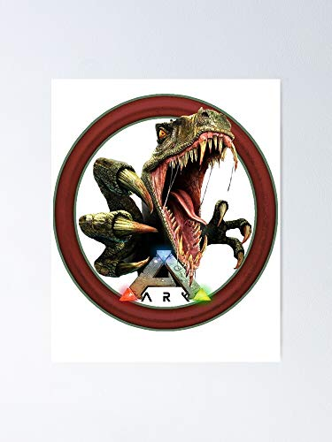 AZSTEEL Ark Survival Evolved -Attack Dinosaur Poster No Frame Board for Office Decor, Best Gift Father, Mother, Daughter, Son and Your Friends 11.7 * 16.5 Inch