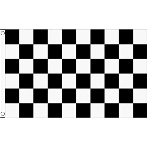 Home & Kitchen 10m BLACK & WHITE CHEQUERED BUNTING FLAG 30CM x 20CM F1 RACING BANNER