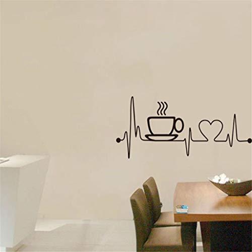 Sticker Mural Art Stickers Art Salon Cuisine Restaurant Vinyle DéCoration Couteau Et Fourchette DIY Wall Mural Famille Accueil Autocollant Design Mur Maison Stickers Cuisine Décor Papiers WINJIN