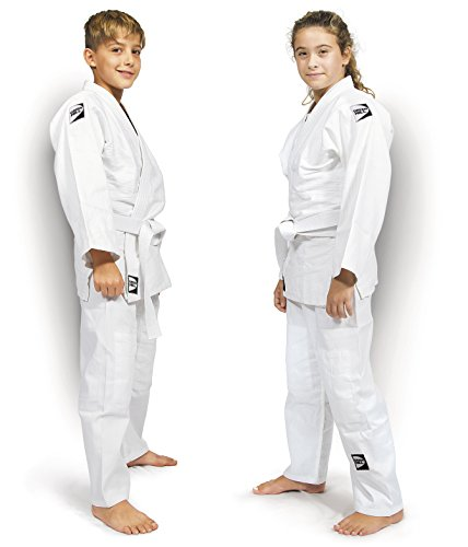 GREEN HILL jsj-10226, Judogi Unisex Niños, JSJ-10226, Bianco, 130